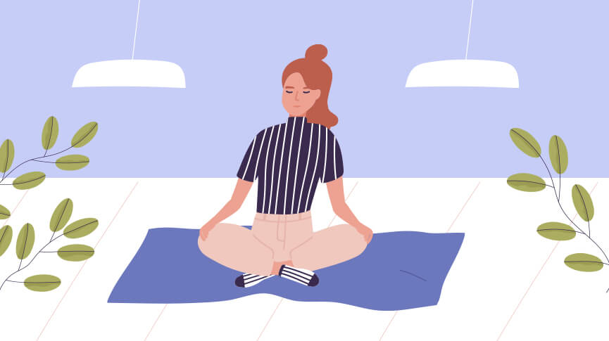 Yoga poses for cramp relief