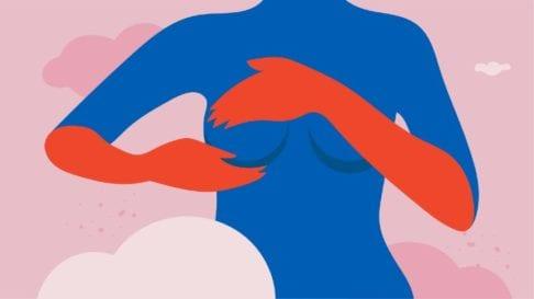 Breast massage illustration