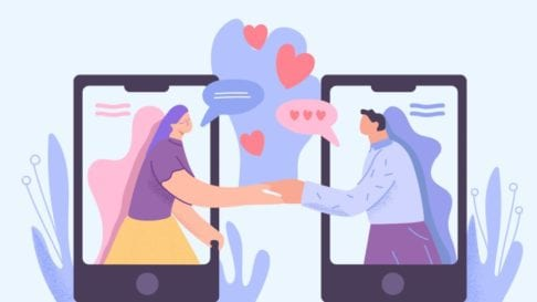 Online dating ilustration