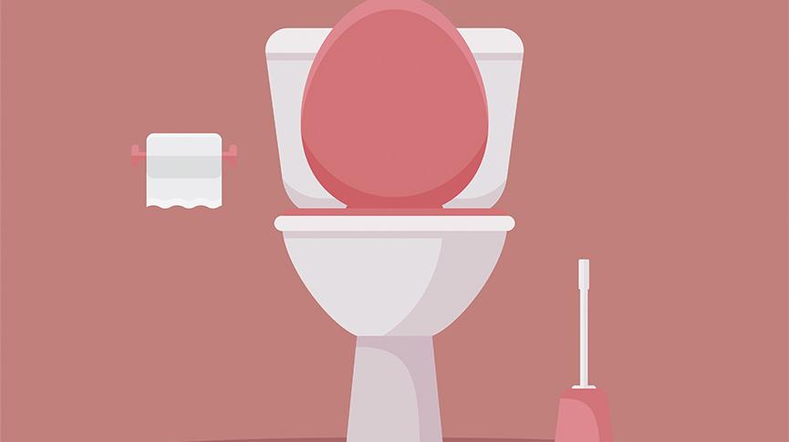 Toilet - Menstrual blood