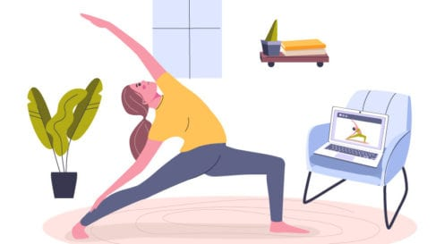 Work from home yoga