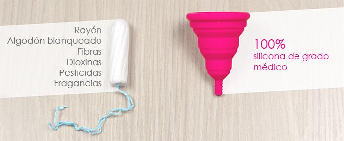 Los tampones contienen materiales que no son tan seguros como la silicona de grado médico de las copas menstruales Lily Cup